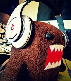 Introducing Me Ü: Danbo and Domo ft. Wall E Dre Headphones, Studio Headphones, Over Ear Headphones, Cheap Beats, Danbo, Beats By Dre, White P, Emo Scene, Super Mario Bros