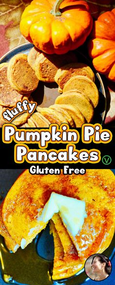 Easy 20 minute gluten free, plant based pumpkin pie pancakes, vegan made with aquafaba. No need to call anyone to the table. Your family will smell these cooking from miles away and rush to the kitchen with forks in hand. Easy 20 minute via Best Vegan Pancakes, Vegan Pumpkin Pancakes, Vegan Gluten Free Breakfast, Gluten Free Pumpkin Pie, Vegan Pancake Recipes, Gluten Free Pancakes, Healthy Breakfast Recipes, Pumpkin Recipes, Aquafaba Recipes
