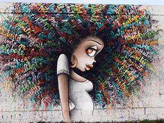 Winnie. Rosa Parks fait le mur, rue d'Aubervilliers Paris 19e, street art, photographie