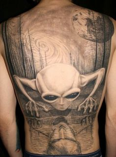 07b0e75b0 You can be as creative and subjective as you like in designing your own alien  tattoo ideas. Aliens are an icon that has existed in the wonder.