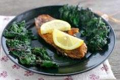 It takes only 15 minutes! yummy Tilapia, Blackened Tilapia with Spicy Swiss Chard and Purple Cauliflower Puree Recipe