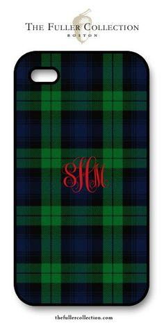 Monogram Tartan - Red Script iPhone Cover