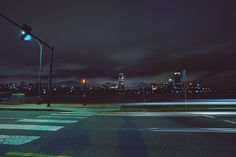 Memorial Drive at night along the Charles River in #CambridgeMA. DiscoverTheCharles.com.