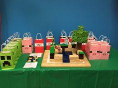 Minecraft gift bags: creeper, pig, TNT