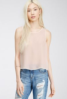 Tulip-Back Chiffon Top | FOREVER21 - 2000082121