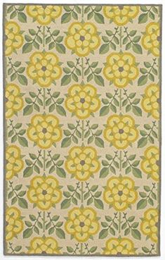Contemporary Area Rug - 'Daisies are such a cheerful flower'. #yellow #rugs #homedecor #funkthishouse