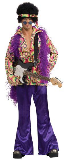 Adult Purple Daze Hippie Costume