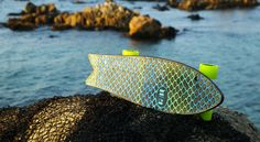 Skateboard is made of debris trawled from the sea