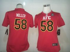Broncos 58 Von Miller Red 2017 Pro Bowl Game Youth Jersey get from  http://www.mybestjerseystore.com/Product/?Sort=26