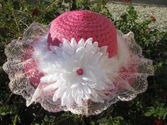 Tea Party Hat  Girls Sun Hat  Easter Bonnet  by PureReflections, $16.00