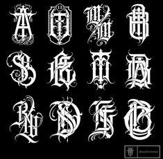 Gothic Lettering, Graffiti Lettering Fonts, Chicano Lettering, Graffiti Alphabet, Lettering Design, Hand Lettering, Alphabet Design, Monogram Alphabet, Alphabet Police