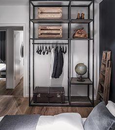 Masculine inBerlin - desire to inspire - desiretoinspire.net - I like the wardrobe idea for a guest bedroom