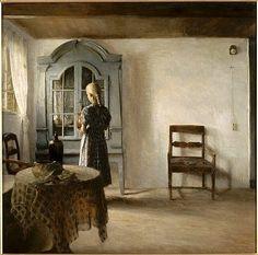 Peter Vilhelm Ilsted (Danish artist, 1861-1933) 'Interior'
