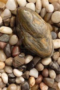 Small River Rocks Of Various Sizes, Shapes And Colors With A.. Royalty ...