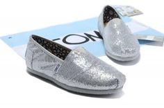 Toms Glitter Shoes Women Silver