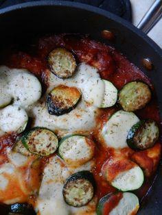 Skillet Chicken & Zucchini Parmesan by Rachel Schultz