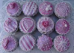 Pink Baby Shower Muffins — Red/Pink