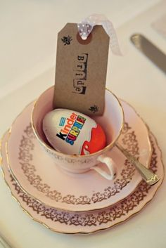 We love this shabby chic teacup, and what better way to celebrate Easter!