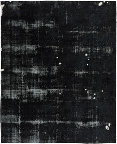 Black is Back - Overdyed Vintage Rug from Loom Rugs.  So Modern and Fresh