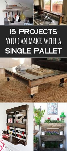 15 DIY Projects You Can Make With A Single Pallet 2019 Clever projects you can make with a single pallet. The post 15 DIY Projects You Can Make With A Single Pallet 2019 appeared first on Pallet ideas. Wooden Pallet Projects, Wooden Pallet Furniture, Pallet Crafts, Wooden Pallets, Pallet Ideas, Wooden Diy, Unique Home Decor, Home Decor Items, Furniture Projects