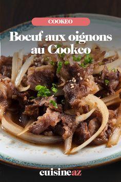 Cette recette de boeuf aux oignons est facile au Cookeo.  #recette#cuisine#robotculinaire #cookeo#moulinex #boeuf #oignon Robot, Meat, Cooking Recipes, Robots