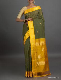 Jamuna Vibrant Silk Border with #zariwork #GadwalCottonSaree