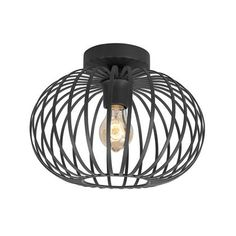 LT-Luce Plafondlamp Aglio Mat Zwart 25cm Highlights, Ceiling Lights, Led, Pendant, Home Decor, Toilet, Modern Retro, Products, Accessories