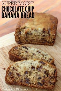 You are going to love this Simple Chocolate chip banana bread Recipe. We took our super moist banana bread recipe and added chocolate chips to satisfy you chocolate lovers! I mean, who doesn't love a good banana bread recipe with chocolate chips? Right?