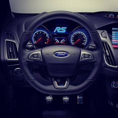 Blue amazing Interior of new Ford Focus RS 2016
