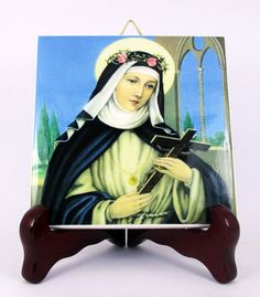 Holy Art serie by Terrytiles2014 wall hanging / ornament / high quality ceramic tile.  A great item for collectors, personal devotion, or to use