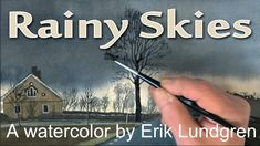 Rainy sky - A watercolor by Erik Lundgren