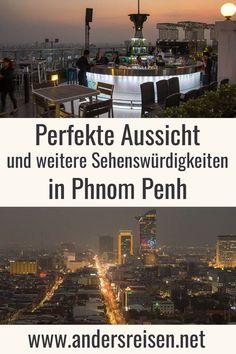 Du möchtest die perfekte Aussicht auf Phnom Penh, Kambodscha genießen? Phnom Penh von Oben kannst Du z.B. von der Dachterrasse im Prince Phnom Penh Tower genießen. Skybar über der Stadt inklusive. #reisetipps #kambodscha #phnompenh #reiseblog Phnom Penh, Angkor, Times Square, Asia, Prince, Travel, Highlights, Bucket, Lovers