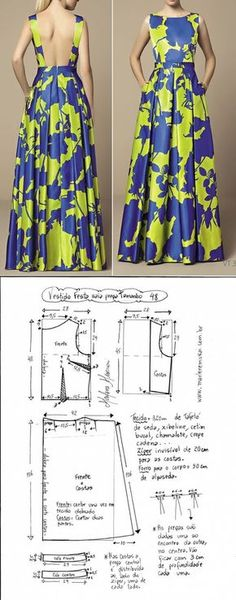 secondstreet.ru Techniques Couture, Sewing Techniques, Pattern Dress, Dress Patterns, Sewing Patterns, Diy Clothes Projects, Sewing Projects, Sewing Crafts, Sew Dress