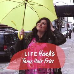 Watch this beauty life hack video to learn how to tame your hair frizz.