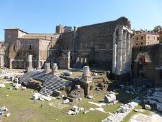 Roma, Italia, Foro, Templo, Ruinas