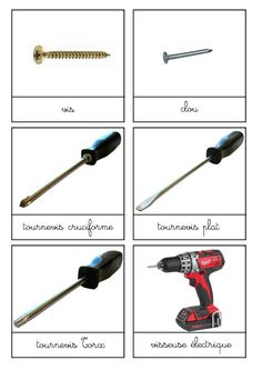 Construction Tools, Still Life, Coin, Montessori, French, Vocabulary, Fle, Language, French People