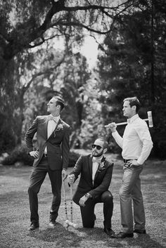 Well-Groomed: Well-Groomed Groom: Croquet Close-Ups