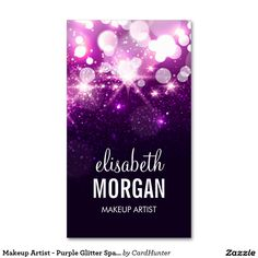 Makeup Artist - Purple Glitter Sparkles Pack Of Standard Business Cards