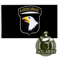 Army Airborne Division 3 ' x 5 ' Flag 101st Airborne Division, Defenders, Patriots, Army, Flag, Retail, American, Store, Movie Posters