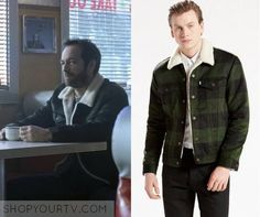 a252e874bf31d7 Riverdale  Season 1 Episode 13 Fred s Green Plaid Sherpa Jacket