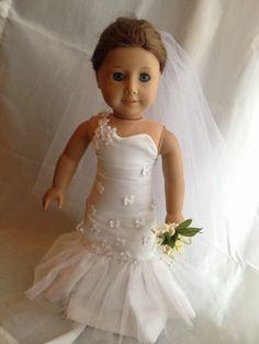 18+Inch+Doll+Wedding+Dress+by+PurplePearlNicole+on+Etsy,+$50.00