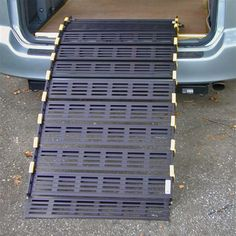 Provide home access for people with disabilities or load up small wheeled equipment for transport with these innovative and award winning roll up ramps! Handicap Ramps, Handicap Accessible Home, Portable Ramps, Wheelchair Accessories, Handicap Accessories, Adaptive Equipment, Handicap Equipment, Adaptive Sports, Shopping