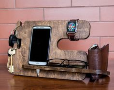 Gift for men, Personalized docking station - Android, iPhone charging stand, gift idea - Mens, boyfr