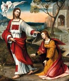 mary magdalene noli me tangere - Bing images Santa Maria, Noli Me Tangere, Jesus Christus, Jesus Resurrection, Mary Magdalene, Catholic Art, Knights Templar, Our Lady, Christianity