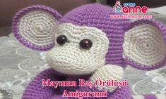 Knitting Toy Monkey Construction (Amigurumi) Hallo Freunde diese Woche s . Crochet Owls, Crochet Motifs, Crochet Food, Crochet Cross, Crochet Animals, Free Knitting, Baby Knitting, Knitting Patterns, Crochet Patterns