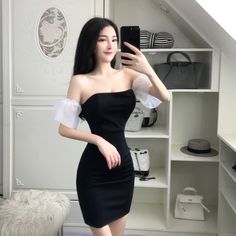 Buy directly from the world's most awesome indie brands. Or open a free online store. Korean Girl Fashion, Ulzzang Fashion, Kpop Fashion Outfits, Cute Fashion, Asian Fashion, Modern Outfits, Cute Casual Outfits, Size 12 Women, Tube Top Dress