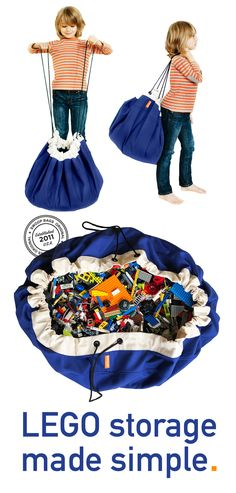SWOOP Bags Durable Toy Storage Bag Ideal for organizing Legos! Gray