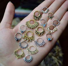 Naturel Saphir Bleu 2 mm 14K OR MASSIF nez os Stud Body Piercing Jewelry