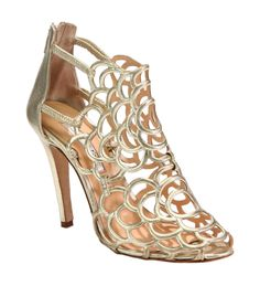 Oscar de la Renta Gladia Artistic Metallic Leather Pumps