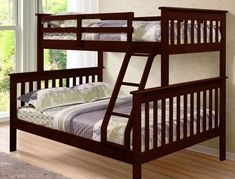 This amazing photo is absolutely a powerful style alternative. Double Bunk Beds, Cool Bunk Beds, Kids Bunk Beds, Kids Full Size Beds, Solid Wood Bunk Beds, Childrens Bunk Beds, Bedding Inspiration, Simple Bed